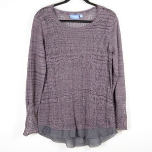 Simply Vera Vera Wang Purple Sweater